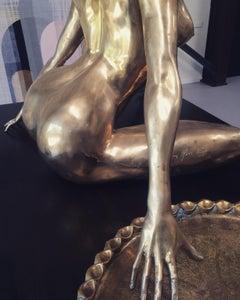 "Christian Maas life sized bronze woman sculpture ""Marilyn"""
