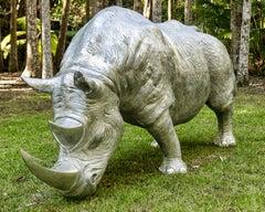 'Rhino a la Charge' Life Size