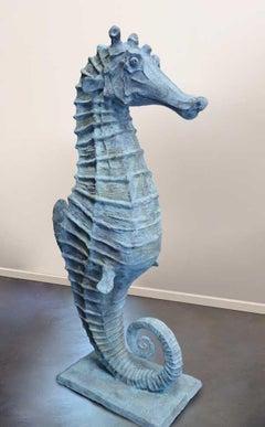 'Seahorse' Bronze with Verdigris Patina
