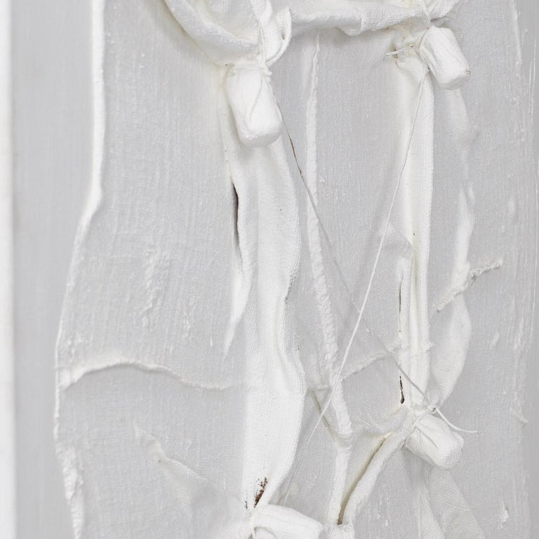 Christian Rosival White Sculpture Painting Signed CR, circa 2000 In Good Condition For Sale In London, GB
