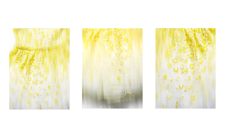 """Christian Stoll Abstract Photograph - TULLE Tripthych - abstact photographs of  mesmerizing texture details 50"""" x 38"""""""