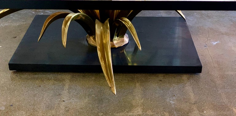 Christian Techoueyres Bronze and Glass Table For Sale 6