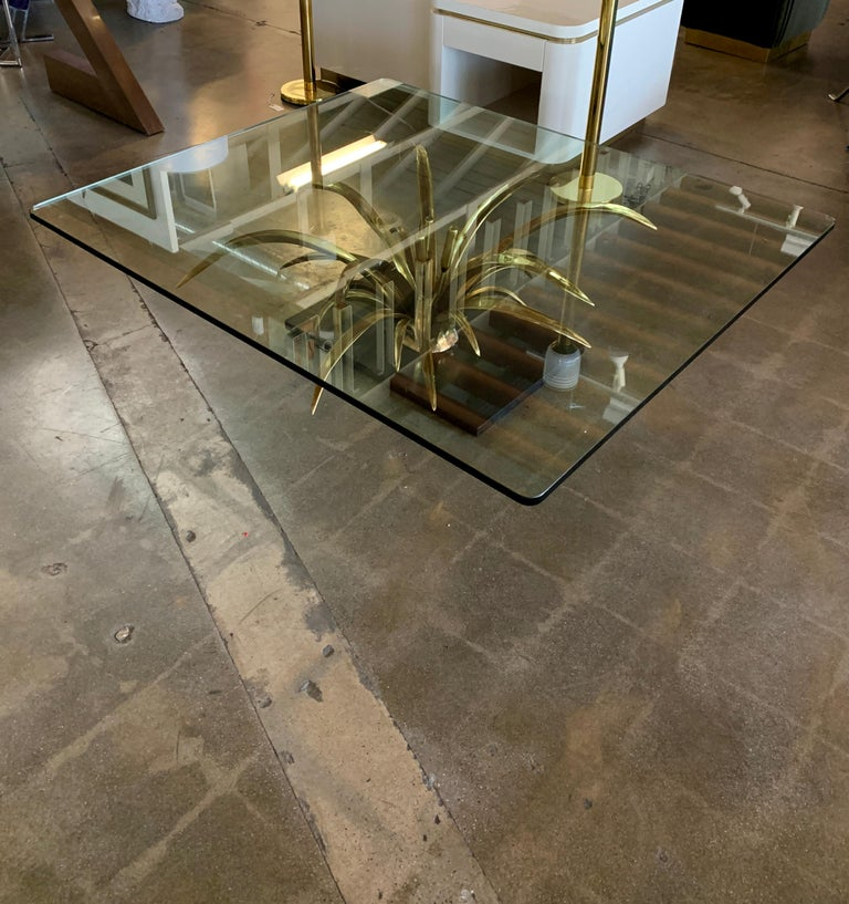 Christian Techoueyres Bronze and Glass Table For Sale 1