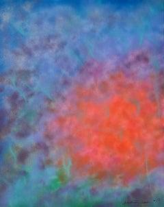 Bursting, Painting, Acrylic on Canvas