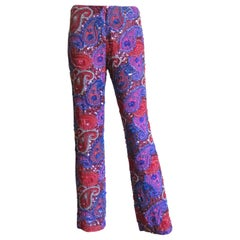 Christiana New Silk Beaded Pants 1990s