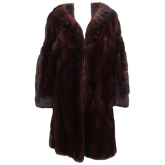 Christie Brothers New York Brown Mink Fur Coat