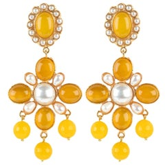 Christie Nicolaides Earrings in Yellow Agate
