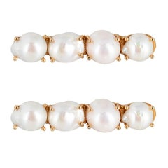 Christie Nicolaides Gold Ana Hair Clip Set in Pearl