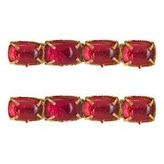 Christie Nicolaides Gold Ana Hair Clip Set in Pink Quartz