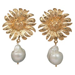 Christie Nicolaides Gold Antonella Earrings in Pearl