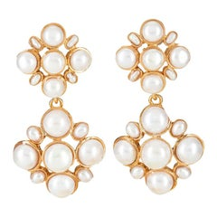 Christie Nicolaides Gold Guinevere Earrings in Pearl