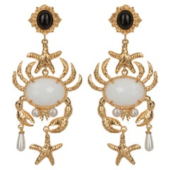Christie Nicolaides Majolica Earrings in Black & White