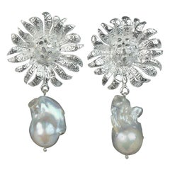 Christie Nicolaides Silver Antonella Earrings in Pearl