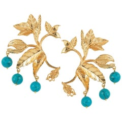 Christie Nicolaides Verano Earrings in Turquoise