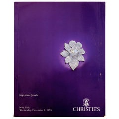 Christie's Auction New York Important Jewels December 8, 1993 #7806