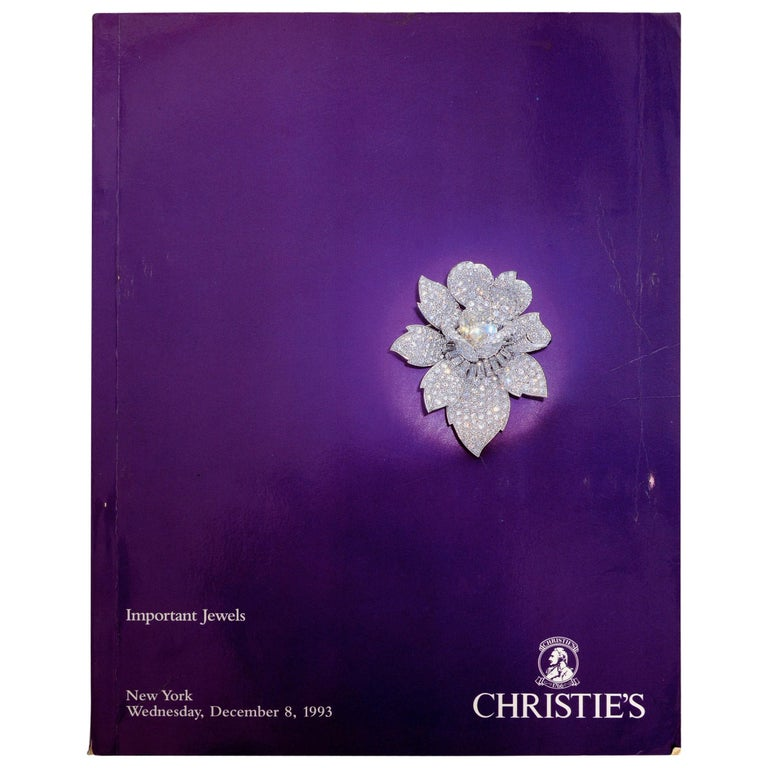 Christie's Auction New York Important Jewels December 8, 1993 #7806 For Sale