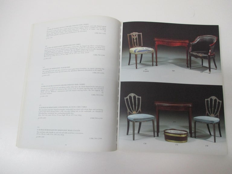 Catalog for a sale of fine English furniture, including the bergère Collection held by Christies Auctioneers in London on the 12th of February 1998. Christie's Auctioneers, London, 1998. Paperback. Condition: Very good -. First Paperback