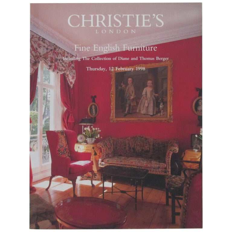 Christie's Fine English Furniture with The Collection of Diane and Thomas Berger For Sale