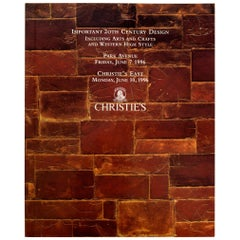 Christie's Important 20th C Design Including Arts & Crafts & Cowboy High Style