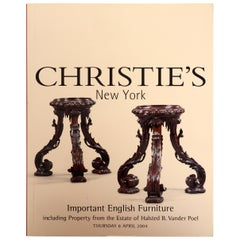 Christie's: Important English Furniture, Property from the Estate of Vander Poel