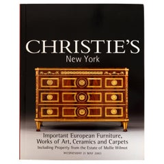 Christie's Important European Furniture, Property from Moillie Wilmot, 1st Ed