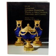 Christie's Important European Furniture, Works of Art, Ceramics, 1st Ed, 5/2005