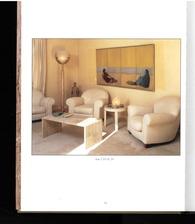 This is a hard backed sale catalogue with the original dust jacket, in good condition, which was produced by Christies for the sale of an important collection of furniture by some of the 20th centuries leading designers and including at its heart