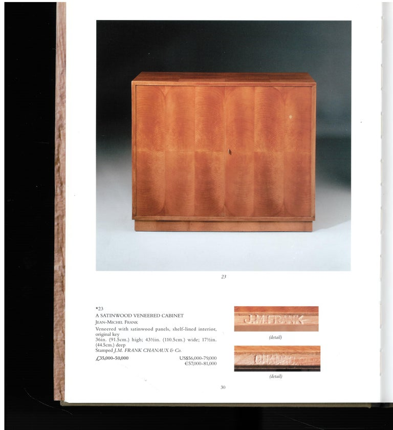 20th Century Christies London, May 2000, a Private European Collection 'J M Frank' For Sale