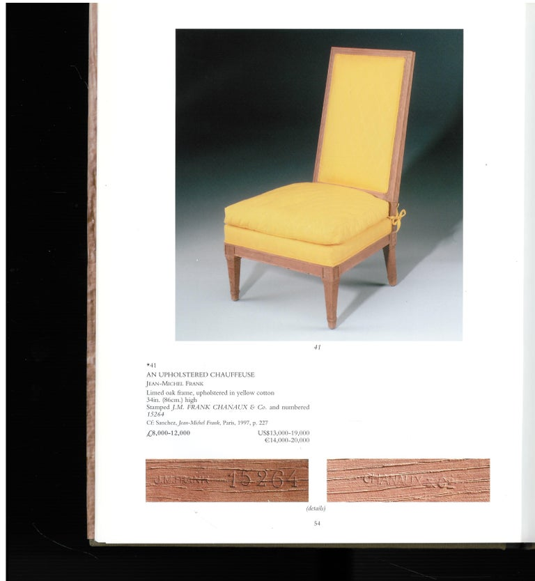 Paper Christies London, May 2000, a Private European Collection 'J M Frank' For Sale