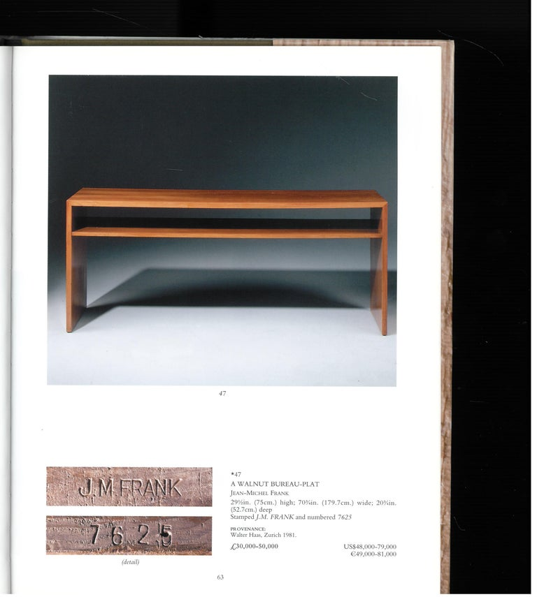 Christies London, May 2000, a Private European Collection 'J M Frank' For Sale 2