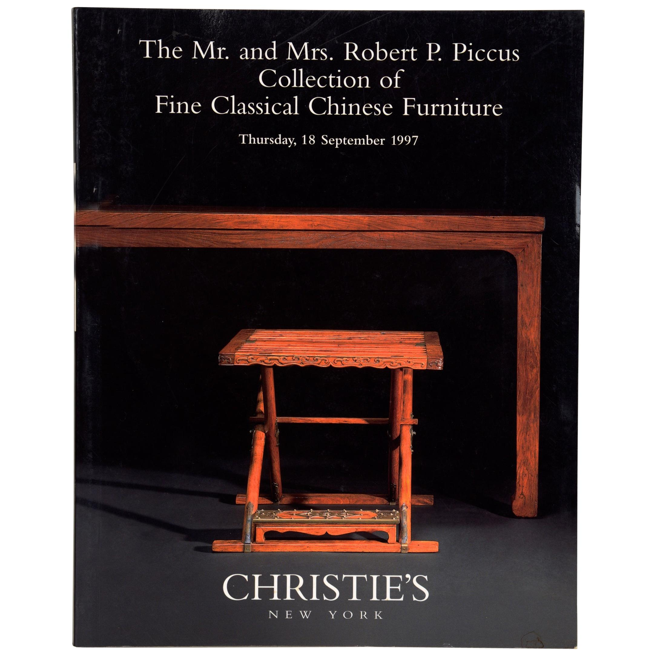 Christie's: Piccus Collection of Fine Classical Chinese Furniture, 9/1997