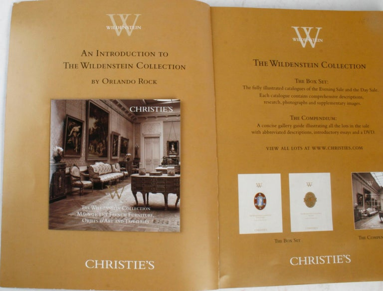 Christie's, The Wildenstein Collection, December 2005. New York: Christie's, 2005. Softcover. 180 pp. The majority of the works were undisturbed since their acquisition up to one hundred years ago at the turn of the 20th century and the collection