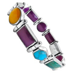 Christin Wolf St. Silver Native American Reversible Bracelet