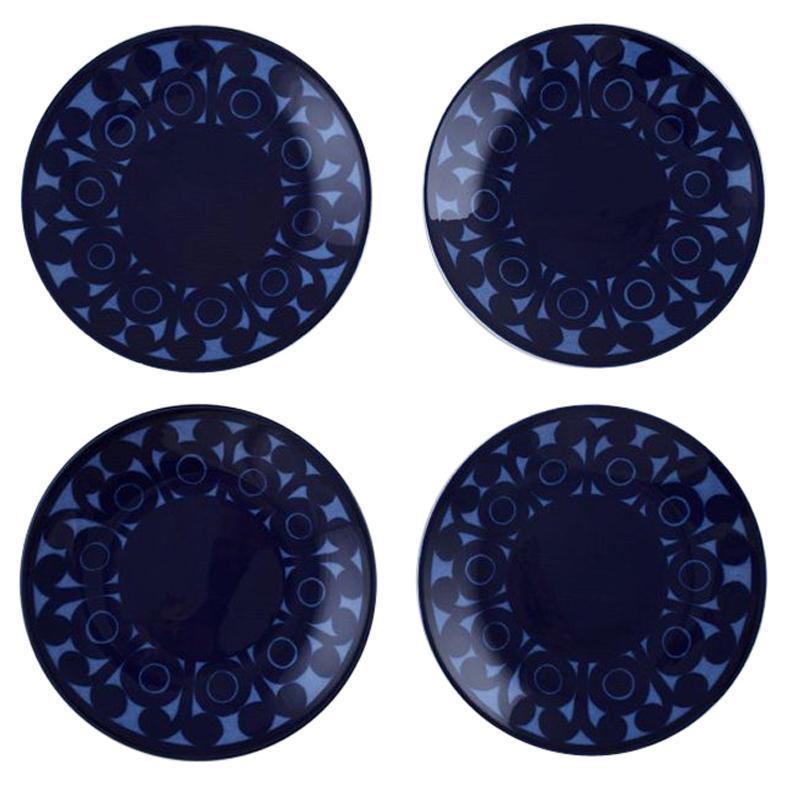 Christina Campbell for Rörstrand / Rørstrand. A set of 4 AGDA porcelain plates.