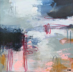 Fancy Free 1 by Christina Doelling, Square Abstract Mixed Media Painting