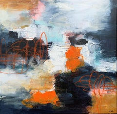 Footloose 2 by Christina Doelling, Square Abstract Mixed Media Painting