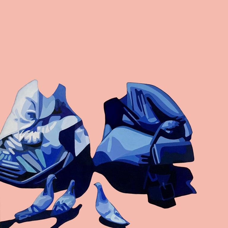 Christina Holdgaard Figurative Painting - Amnesia 2 - surreal painting
