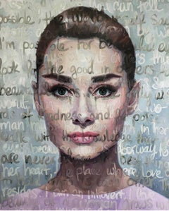 Large 60 x 80 Oil Painting Titled: Audrey