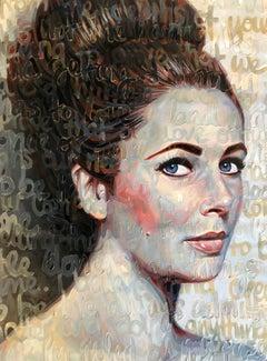 Large Oil Painting Titled: Elizabeth