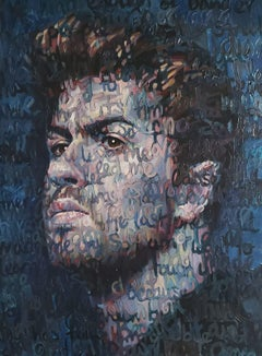 Large Oil Painting Titled: George Michael