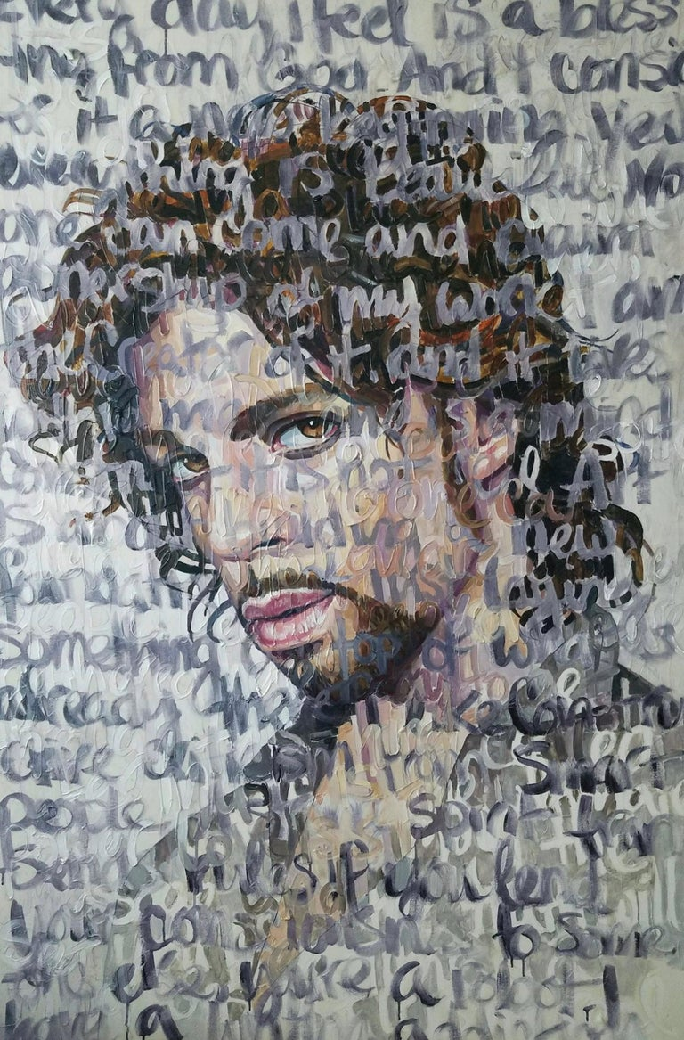 Christina Major Figurative Painting - Large Oil Painting Titled: Prince