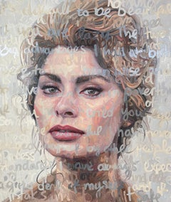 Large Oil Painting Titled: Sophia