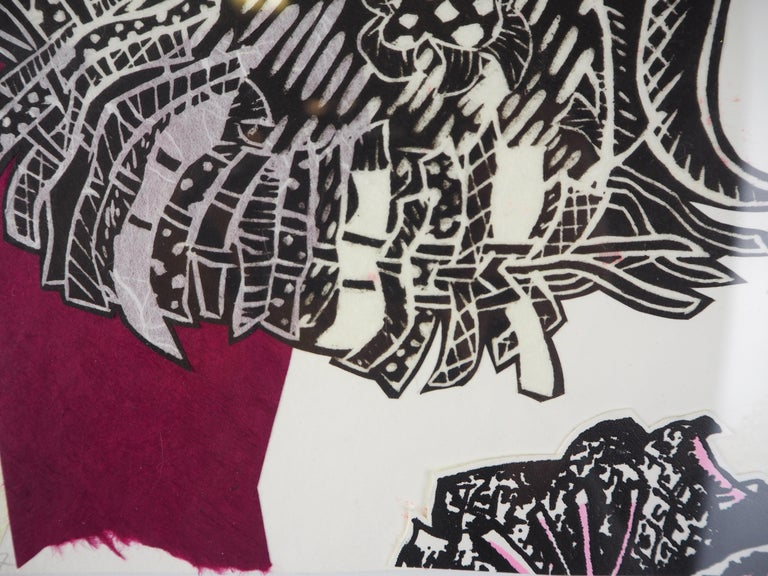 Monoprint Collage: Early Fall - Print by Christina Massey