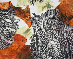 Monoprint Collage: Fall Foliage