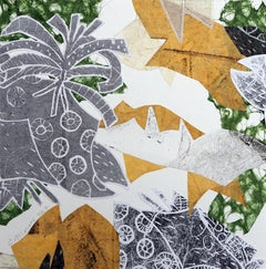 Monoprint Collage_Yellow Gray