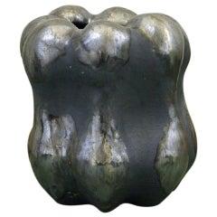 Christina Muff Small Stoneware Vase with Matte and Shiny Mixed Glazes
