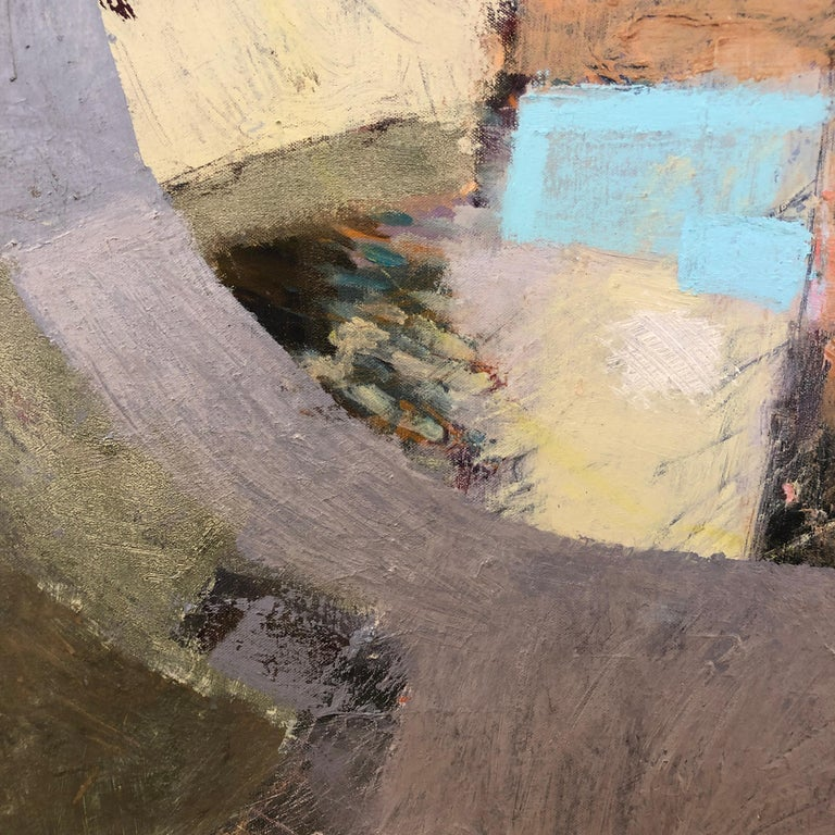 'Cut Loose', Contemporary Geometric Abstract Oil & Gouache Mixed Media Painting 3
