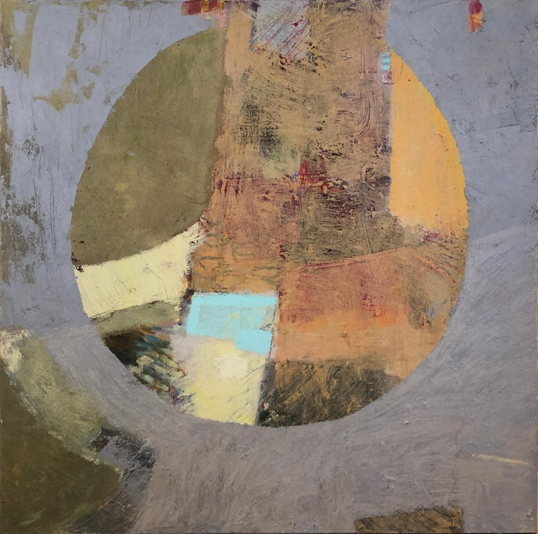 Christine Averill-Green Abstract Painting - 'Cut Loose', Contemporary Geometric Abstract Oil & Gouache Mixed Media Painting