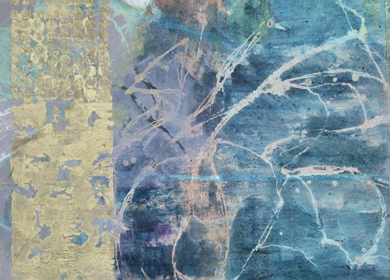 'Fallen From a Higher Place', Contemporary Abstract Mixed Media Oil Painting For Sale 1