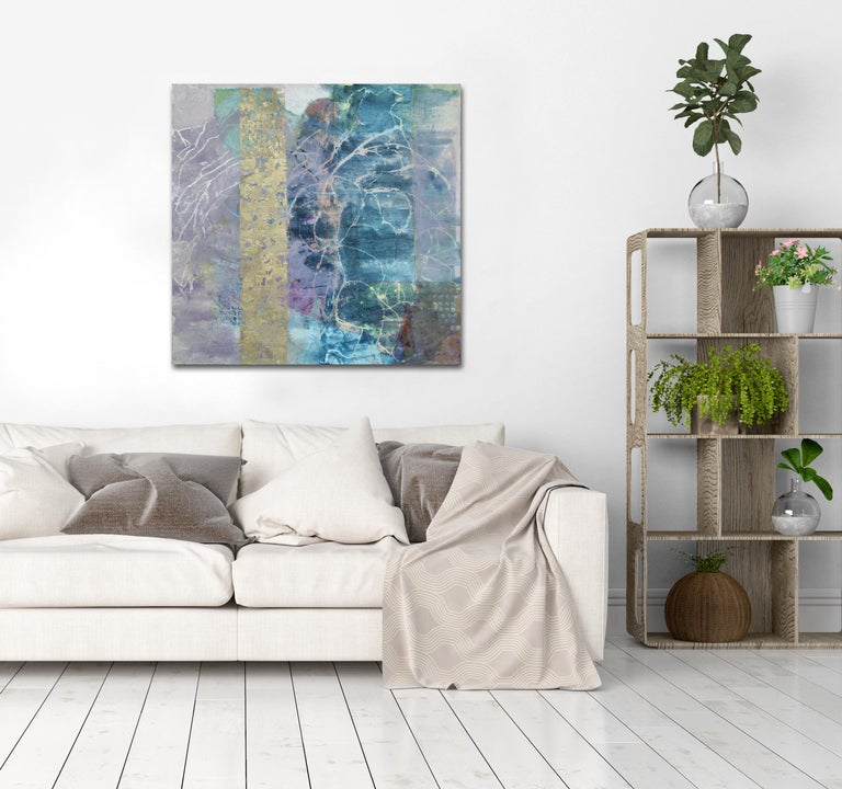 'Fallen From a Higher Place', Contemporary Abstract Mixed Media Oil Painting For Sale 2